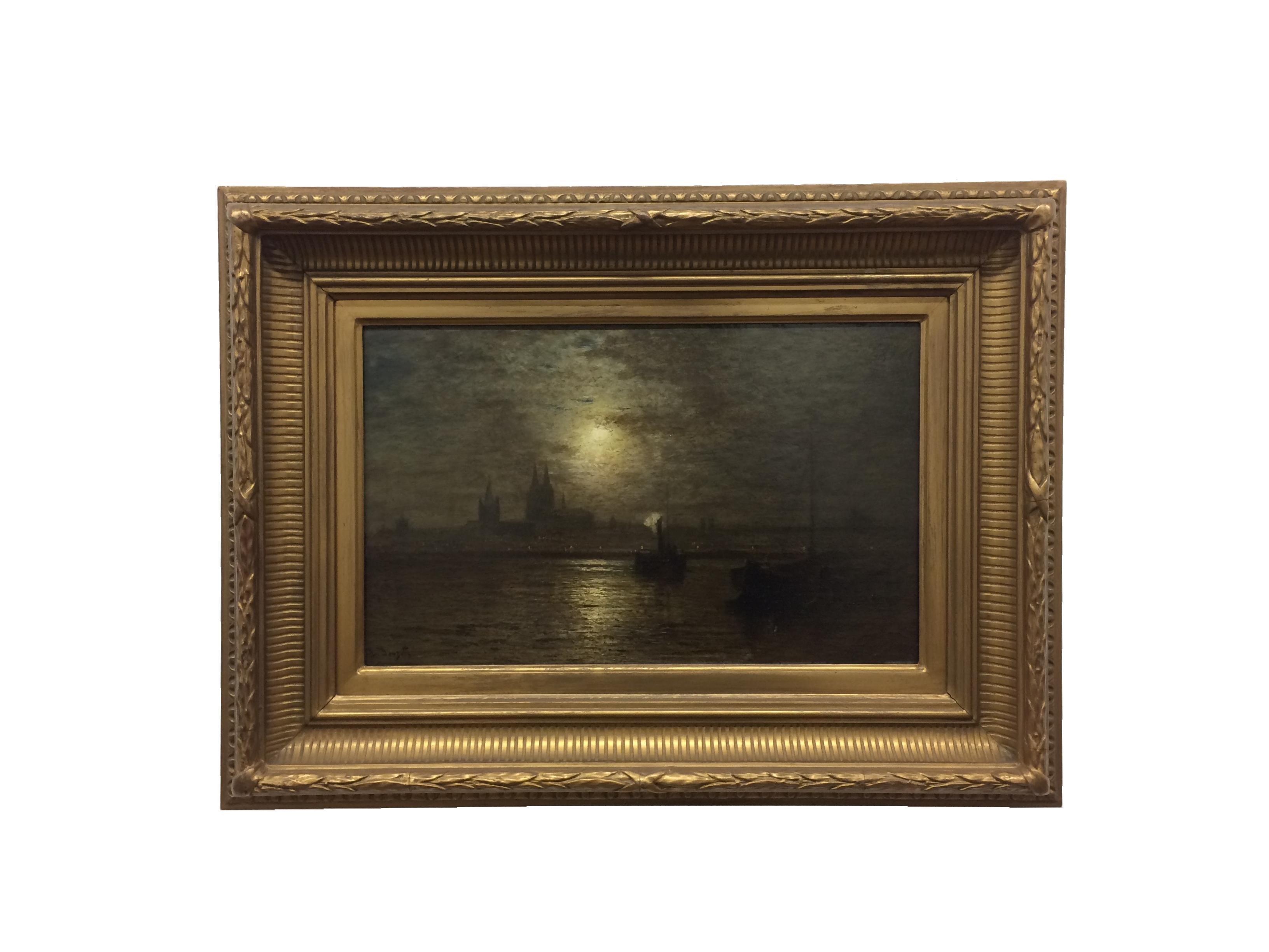 """Gemälde von Louis Douzette -""""Köln bei Nacht"""""""